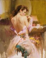 Bare back women in ballgown