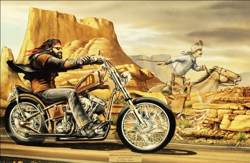 """""""Easyriders 45th Anniversary Ghost Rider """" Gallery Wrapped ..."""